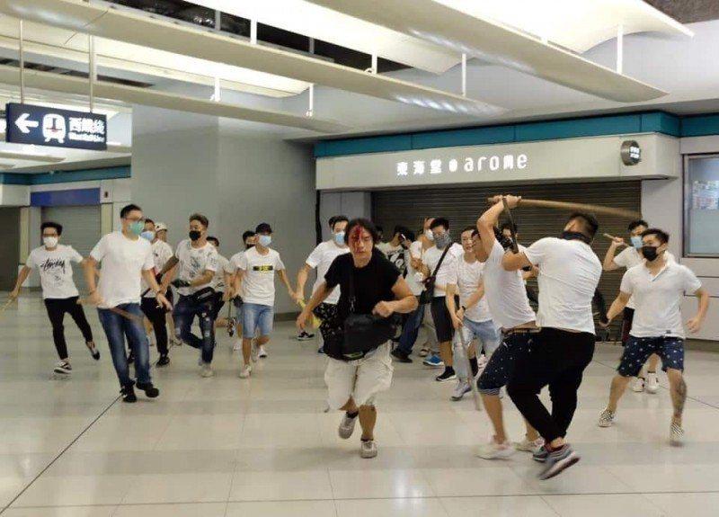 去年香港發生元朗白衣人事件。圖/取自香港突發事故報料區臉書