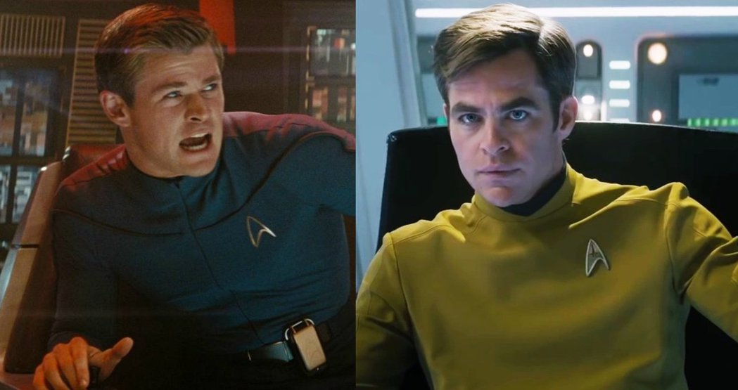 克里斯漢斯沃(左)、克里斯潘恩在「星際爭霸戰」演父子。圖/摘自imdb