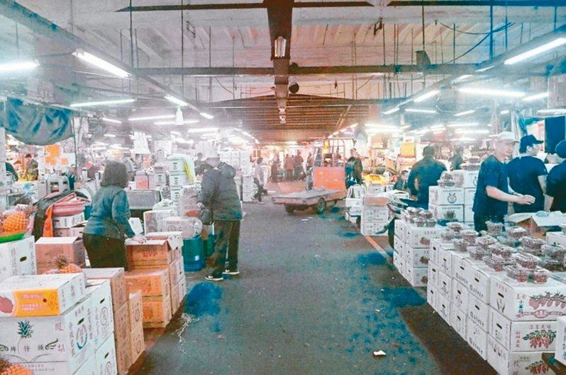 新北市三重果菜市場可能遷建至蘆北重劃區。 圖/聯合報系資料照片