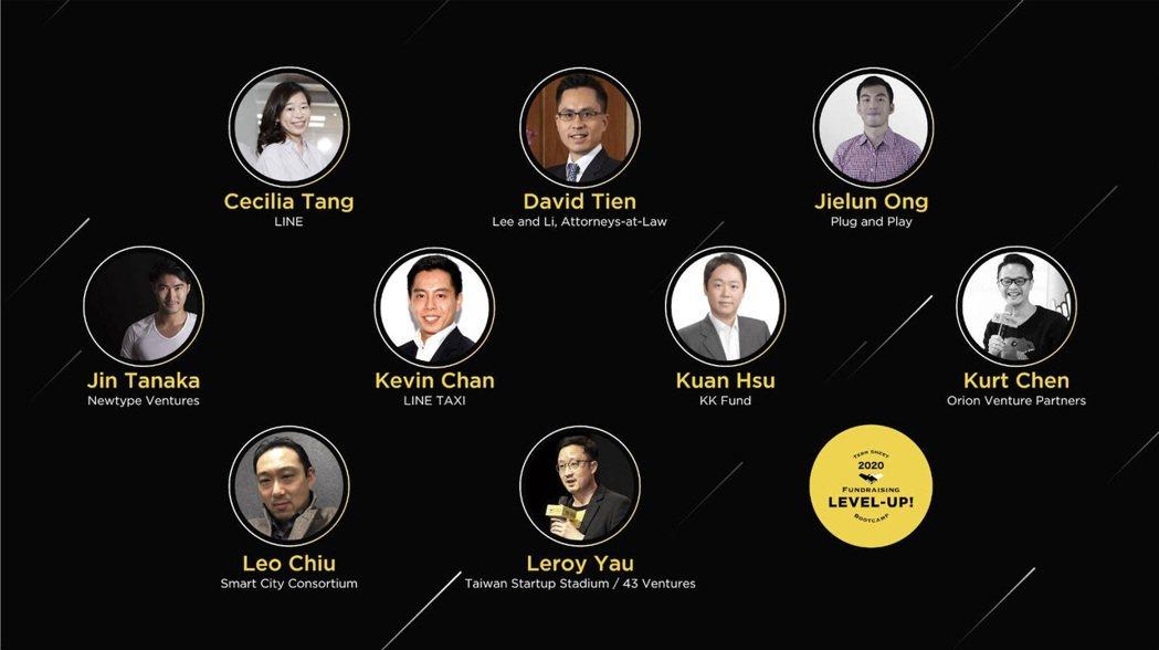 高雄投資條件書訓練營講者陣容。 台灣新創競技場/提供