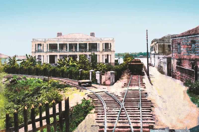 光緒年間的大稻埕車站,為劉銘傳任台灣巡撫期間興建。 圖/徐宗懋圖文館提供