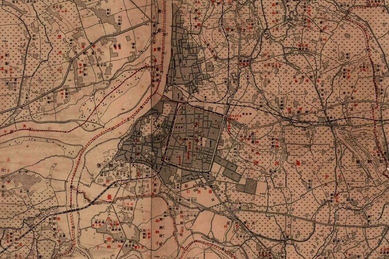 詳細的台灣堡圖,呈現20世紀初台北城的面貌。 圖/中研院台灣歷史地圖網站