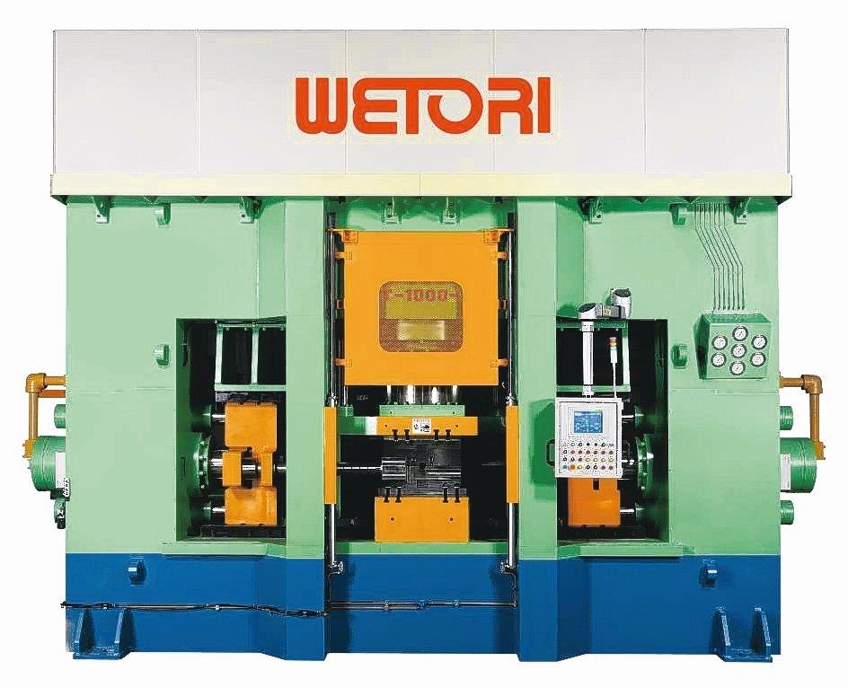 一心機械生產的液壓成型機。 一心機械/提供