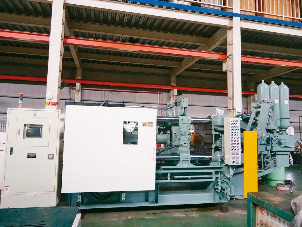 燿陞公司整修後的進口鋁壓鑄機外觀。 燿陞公司/提供