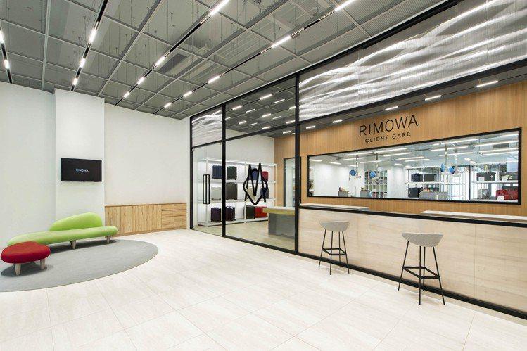 RIMOWA顧客服務中心,佔地約百坪,劃分為貴賓等待區、商品檢測區以及商品維修區...