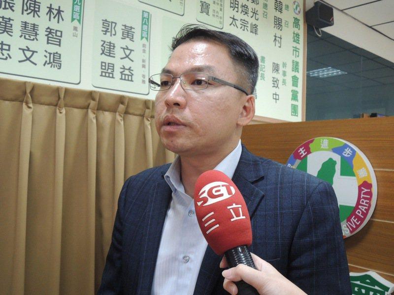 民進黨高雄市議員黃文益。記者楊濡嘉/攝影