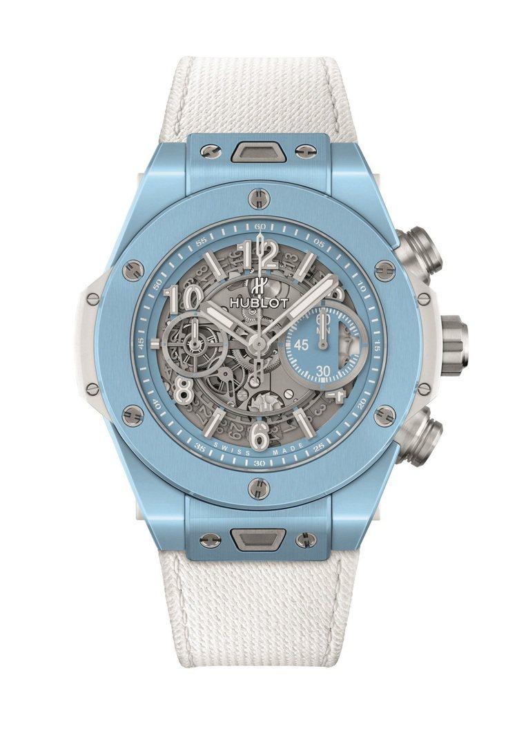 HUBLOT Big Bang Unico 45毫米天空藍陶瓷腕表,66萬8,0...