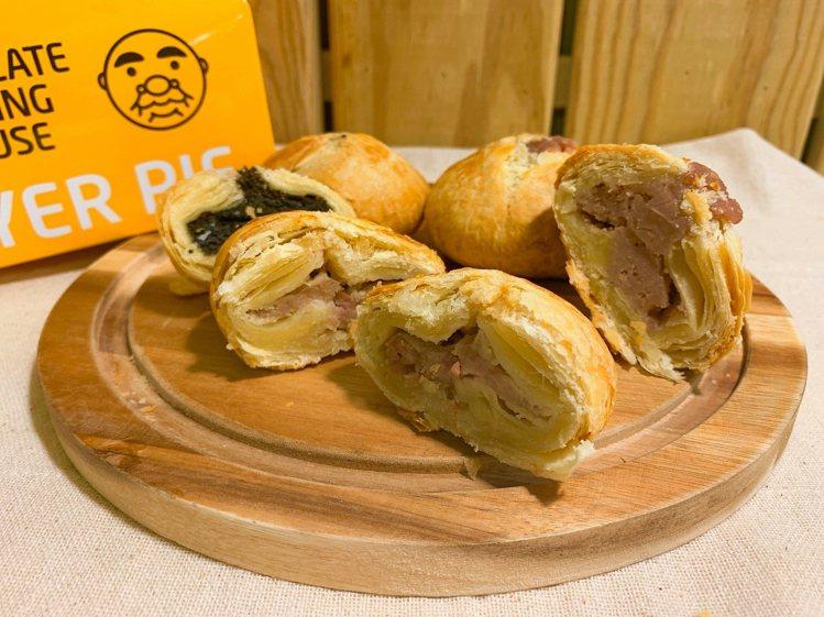 全家便利商店於部分門市推出弄餅家「千層餅」,共有鮮肉、芋頭、芝麻等3款人氣口味。...