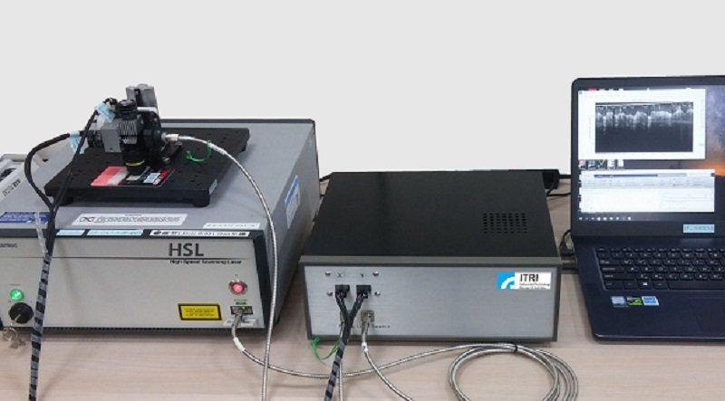 工研院研發出的高速光學同調斷層掃儀OCM,以非侵入式的光學技術即時看到角膜斷面影...