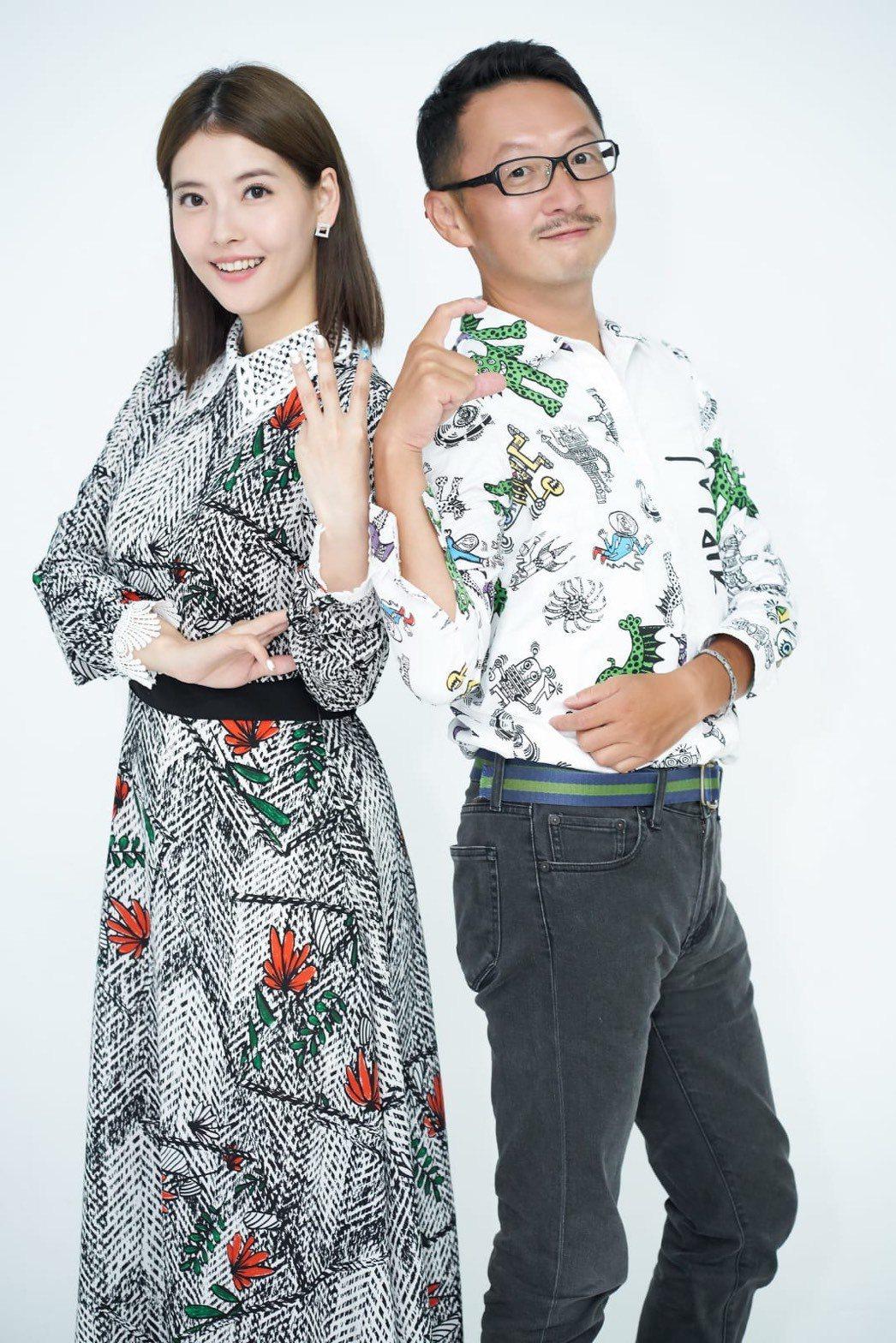 王樂妍(左)與星座塔羅老師王奇在Youtube開啟「WC二次方」頻道,合作主持節...