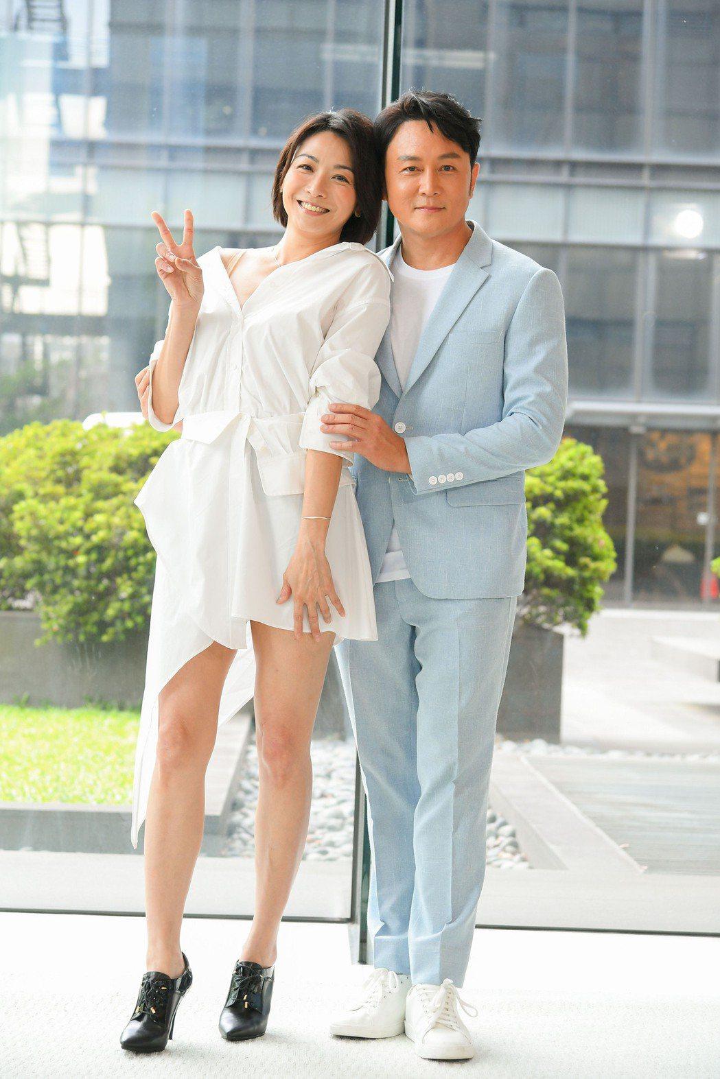 江祖平(左)和趙擎首度合作,兩人在「天之驕女」演夫妻。圖/三立提供
