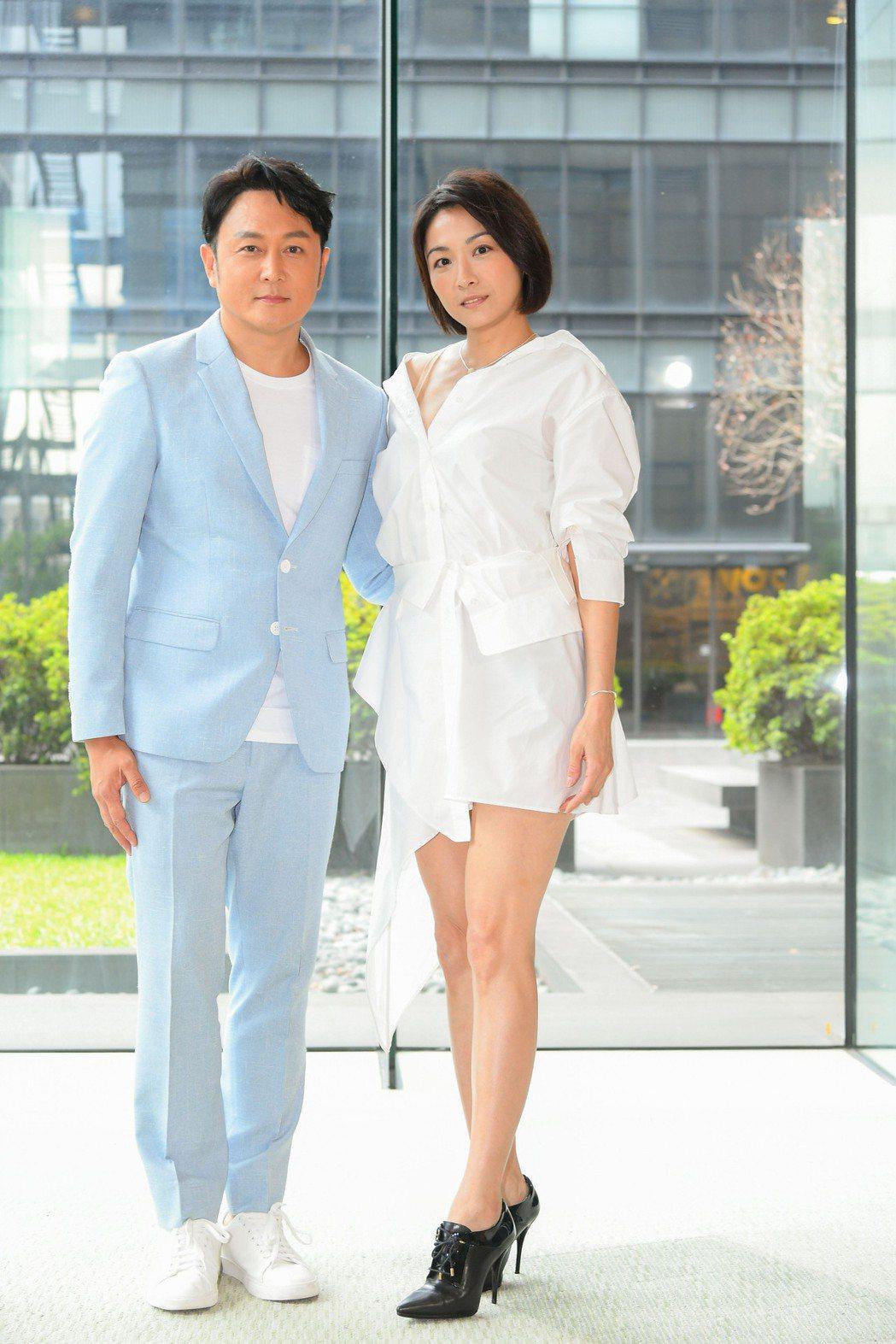 江祖平(右)和趙擎首度合作,兩人在「天之驕女」演夫妻。圖/三立提供