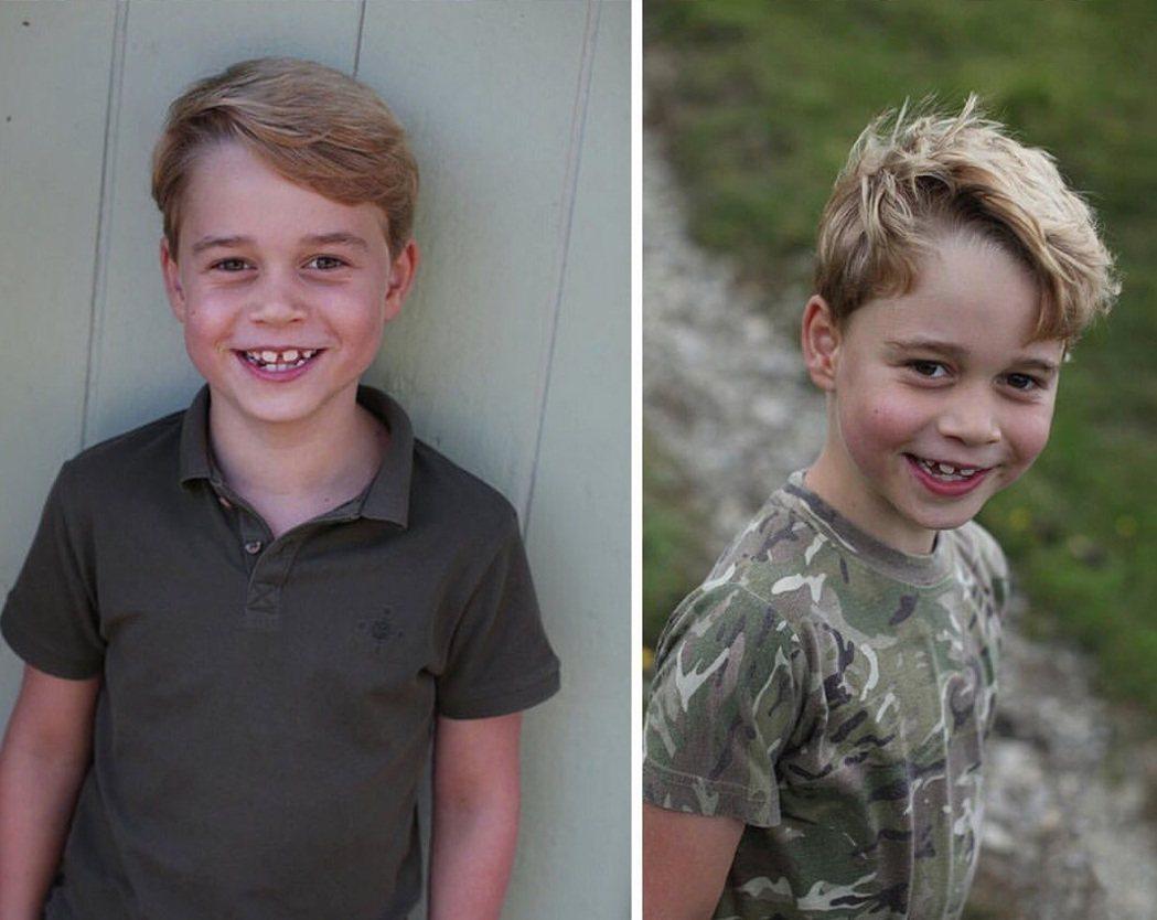 喬治王子過7歲生日。圖/摘自Instagram