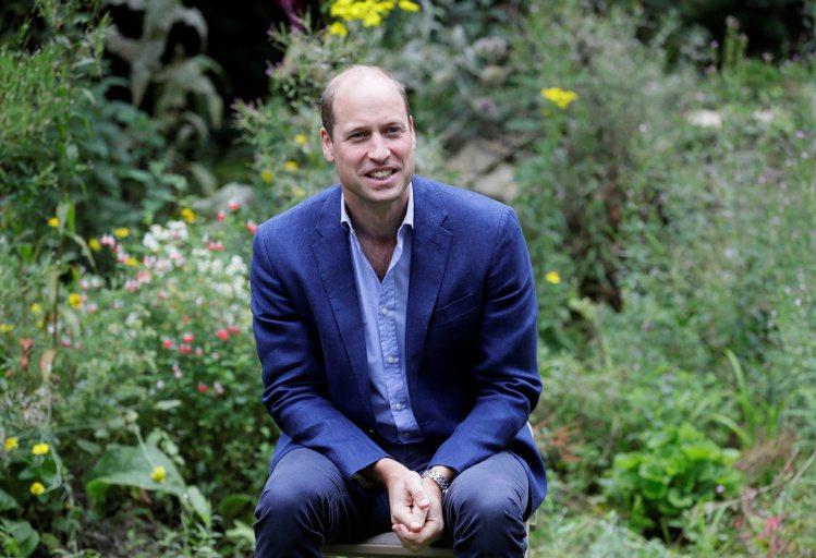 威廉王子頭頂髮量稀疏已久。圖/路透資料照片