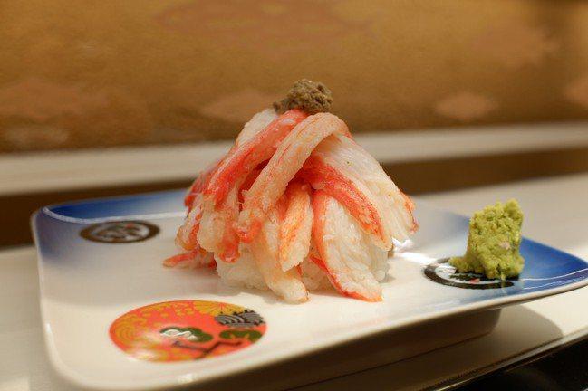 「蟹滿堂」採用來自日本海的松葉蟹,360元。記者江佩君/攝影