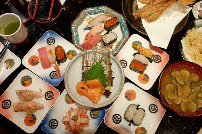 金澤美味壽司,主打新鮮高級食材,種類選擇多元。記者江佩君/攝影