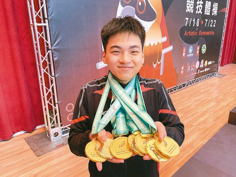 莊佳龍囊括七金,成今年最大贏家。 記者曾思儒/攝影
