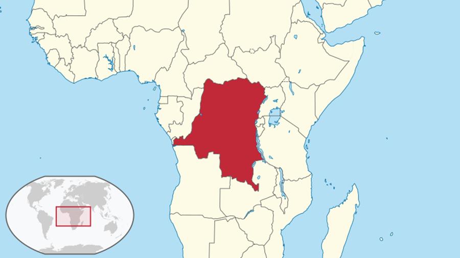 今日為剛果民主共和國的全境領土,在19世紀末時成為利奧波德二世的國王殖民地。 圖...