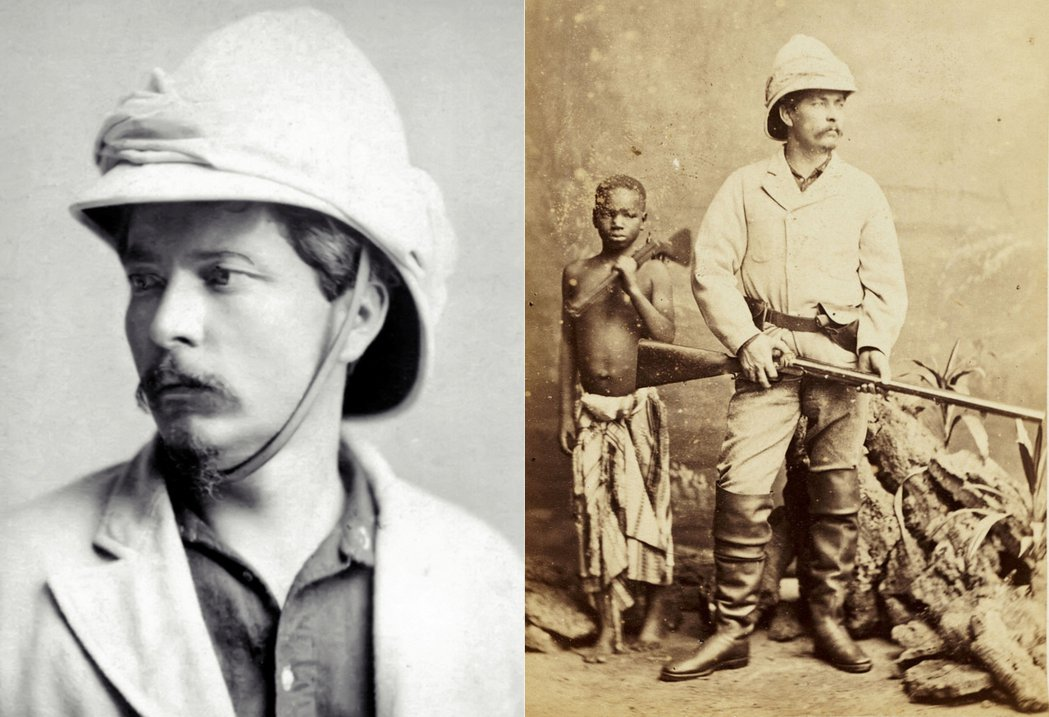 史坦利的人生故事,在美國與非洲這兩個「新大陸」,有了戲劇化的轉折。圖右為史坦利與...