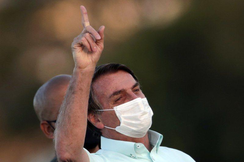 巴西總統波索納洛。(美聯社)