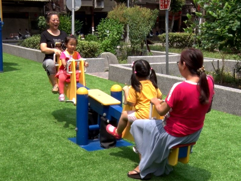 三重區五華公園最近變得煥然一新,也成為大人小孩安全的遊戲好地方。 圖/全聯有線電視提供