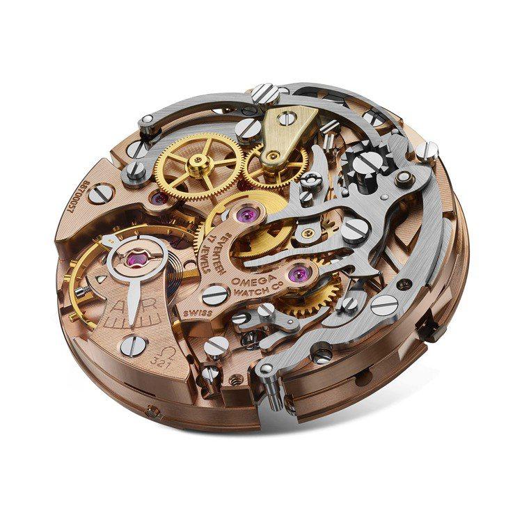 歐米茄歷經兩年研究與重建,終於復活了傳奇的321機芯,並運用在腕表之中。圖 / ...