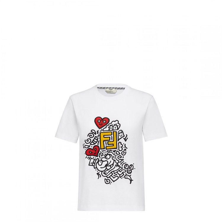 FENDI X Mr. Doodle聯名系列女生T恤,21,600元。圖/FEN...