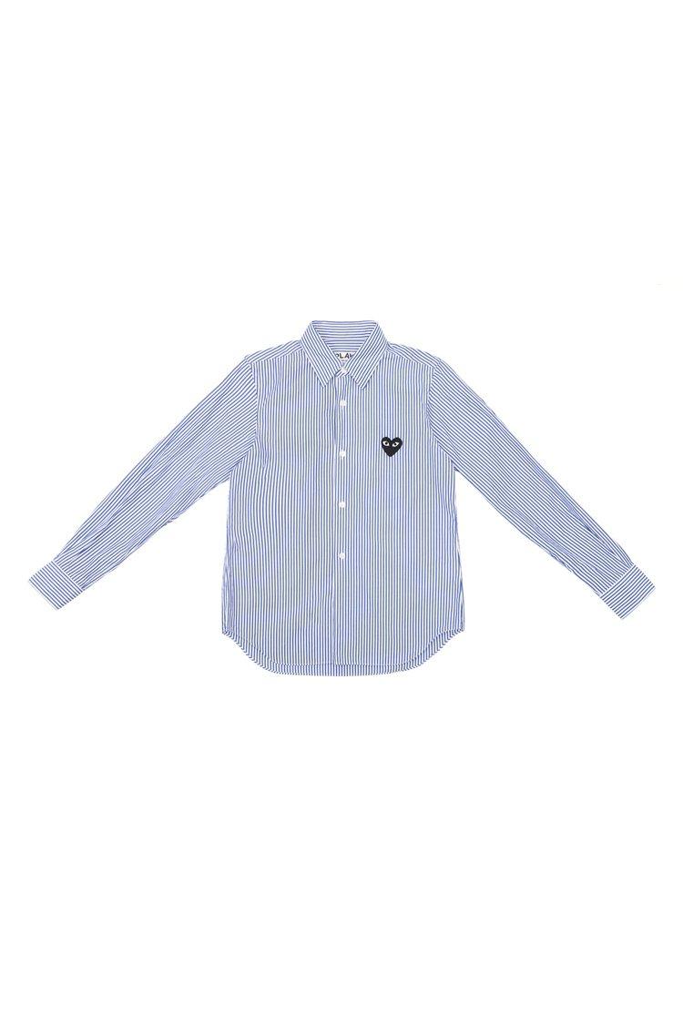 Comme des Garçons Play女款迷你黑心長袖襯衫,8,500元。...