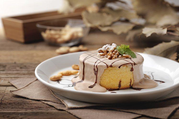 巧克力核桃厚鬆餅。圖/杏桃鬆餅提供