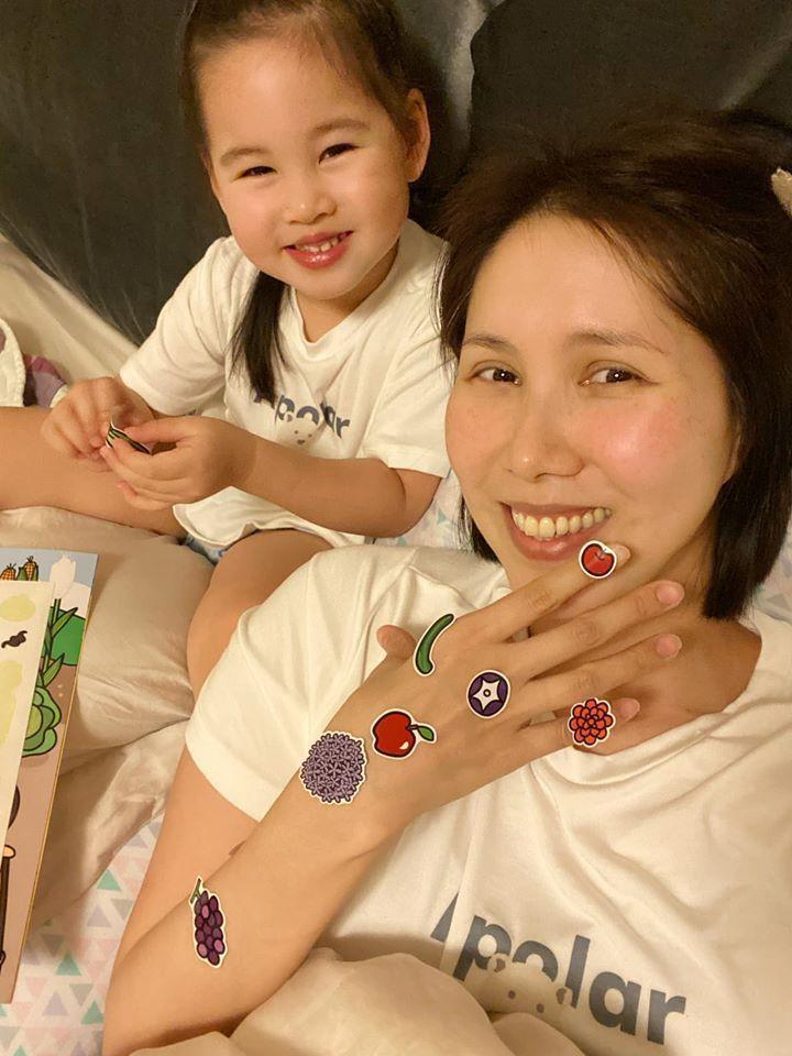 余苑綺跟女兒樂樂歡樂時光,母女長得很像。圖/余苑綺臉書