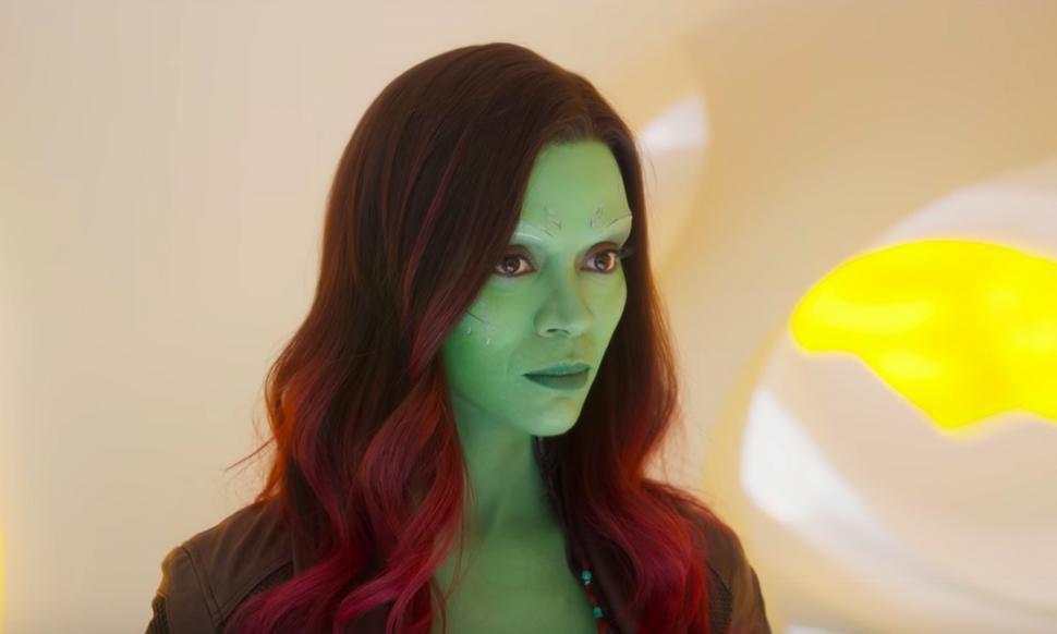 柔伊莎達娜在漫威「星際異攻隊」有重要的戲分。圖/摘自imdb