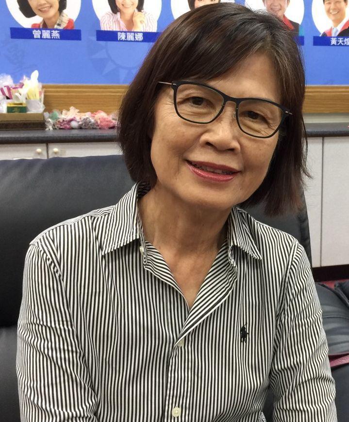 代表國民黨團角逐高市議長補選的曾麗燕。圖/聯合報系資料照片