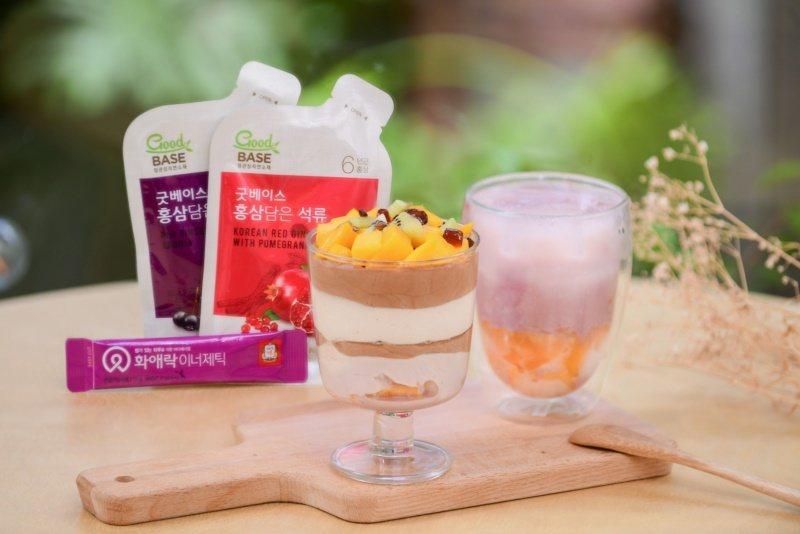 人氣甜點夯店「填一點」分享客製甜點「蔘纖凍紅石榴巧克慕斯」、「高麗蔘綜合水果夏季...