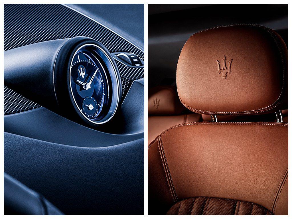 Maserati Levante Elite仍保有觸感細膩的真皮座椅及經典的Ma...