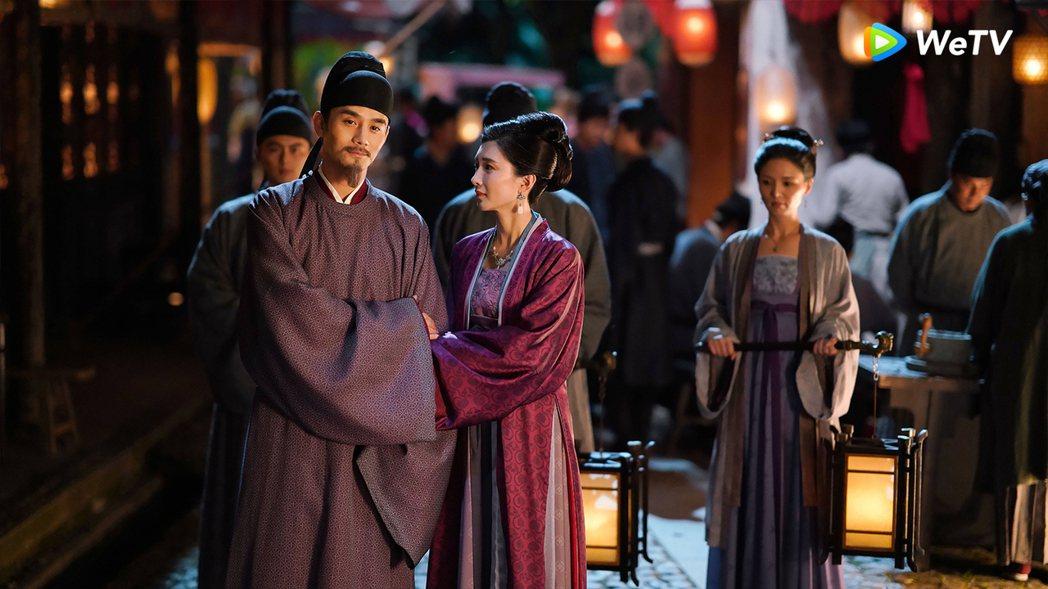 王凱(左)與江疏影主演的「清平樂」播出完結篇。圖/WeTV提供