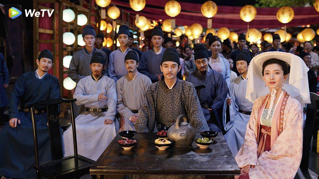江疏影(右)、王凱合作「清平樂」。圖/WeTV提供