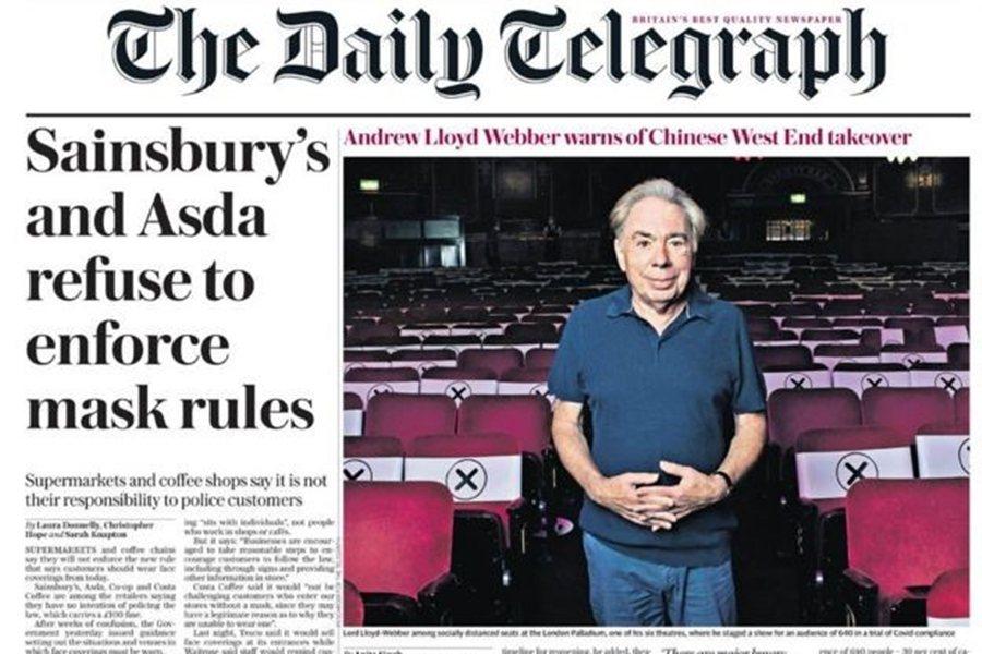 在《每日電訊報》的專訪中,洛伊韋伯提及的英國劇場困境約略可以分為:劇場完全重啟的...