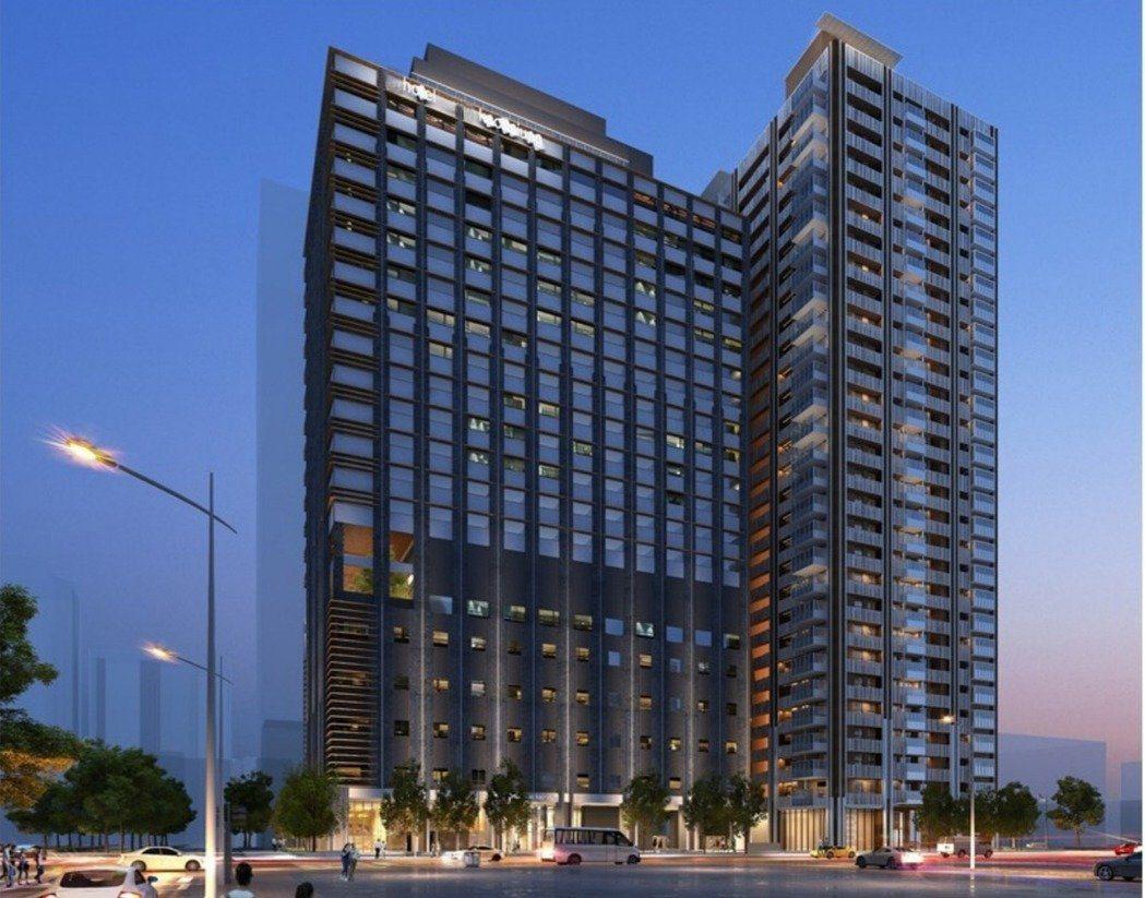 日系連鎖飯店大倉久和來高雄投資飯店模擬圖。 照片來源:高雄市都發局提供