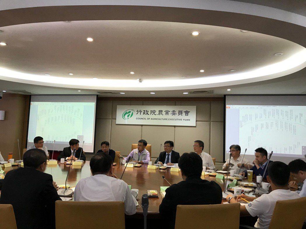 農委會主委21日與光電業者座談。 發電系統公會/提供