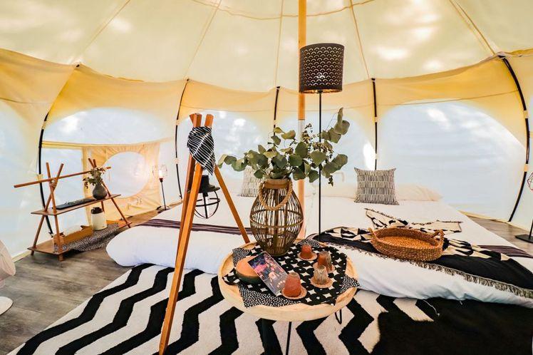 苗栗勤美學好夢里帳篷內裝設計。圖/哈潑時尚提供