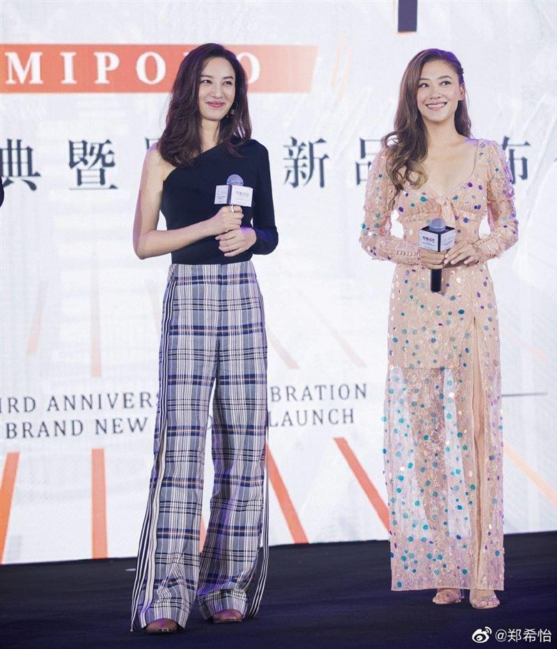 鄭希怡和應采兒是演藝圈中多年好閨密。圖/摘自微博