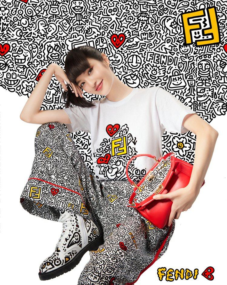 FENDI X Mr. Doodle聯名系列將於7月30日上市。圖/FENDI提...