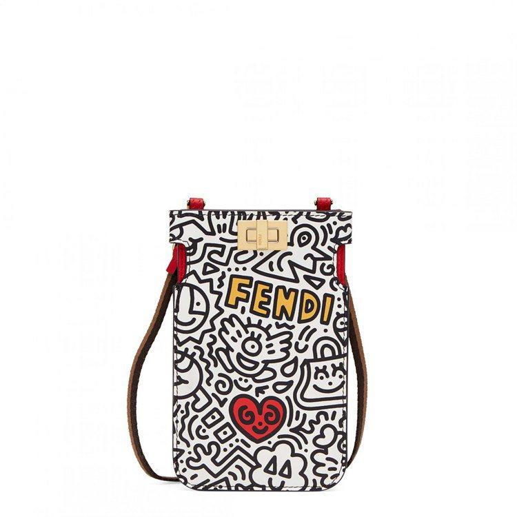 FENDI X Mr. Doodle Peekaboo手機袋,34,900元。圖...