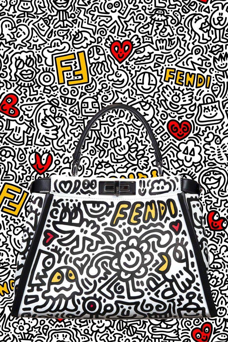FENDI X Mr. Doodle Peekaboo包款,16萬8,000元。...