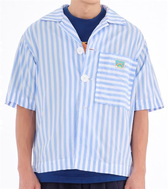 plain-me玩具總動員娃娃衣條紋襯衫,會員價 2,080元。圖/plain-...