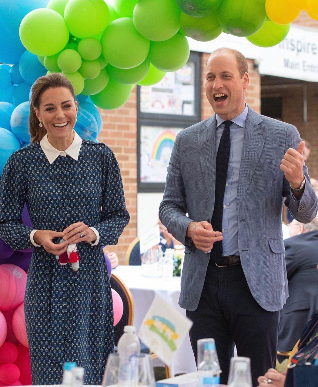 凱特被指近來皇室勤務分量太重,身體狀況受到影響而暴瘦,讓丈夫威廉(右)很擔心。圖