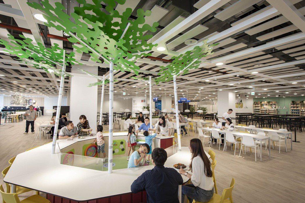 IKEA桃園店貼心打造北歐原裝兒童遊戲室-斯莫蘭魔法森林,小朋友可以在森林裡玩樂...