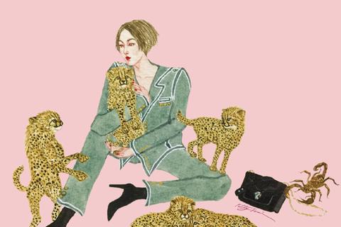 Patty Tsai將最愛的獵豹擬人,以半寫實、半主觀的表現手法繪製自己與獵豹的...