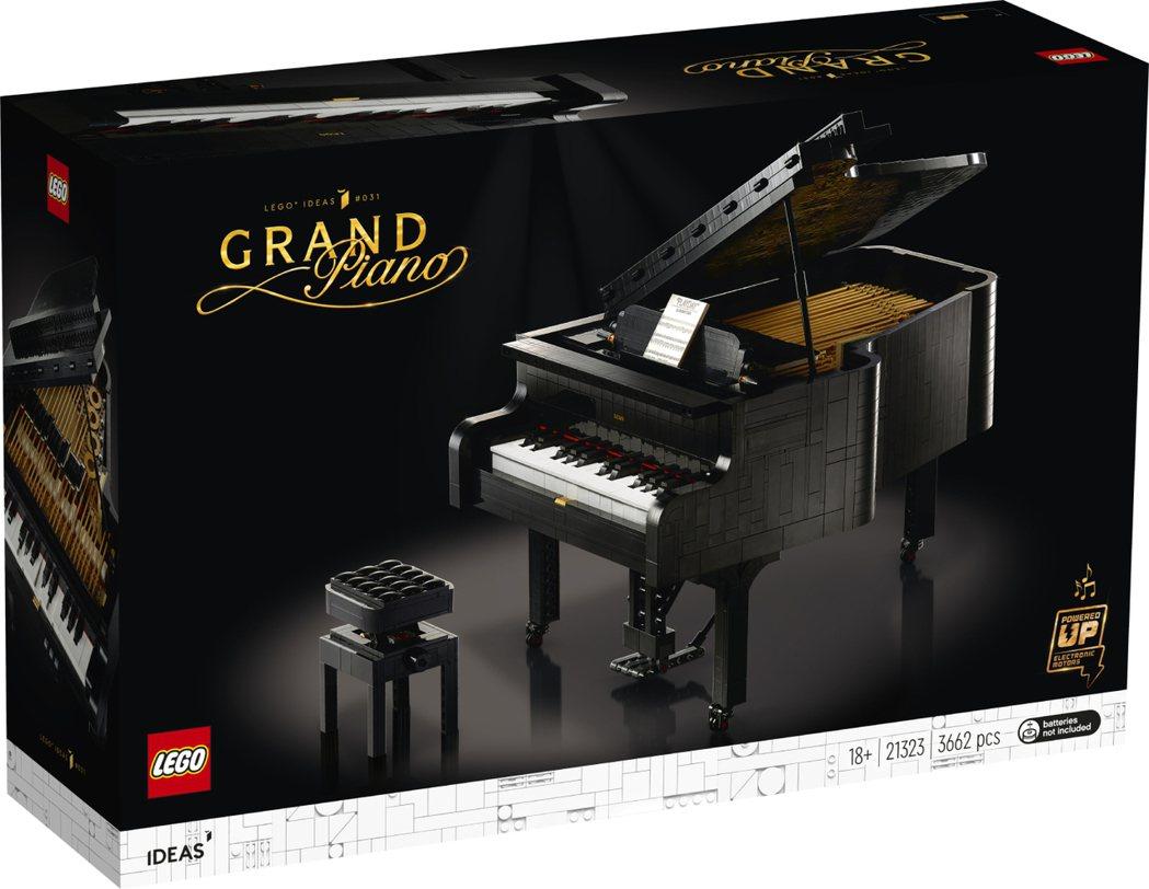 樂高IDEAS系列新品「演奏鋼琴」將於8月1日上市。 LEGO /提供