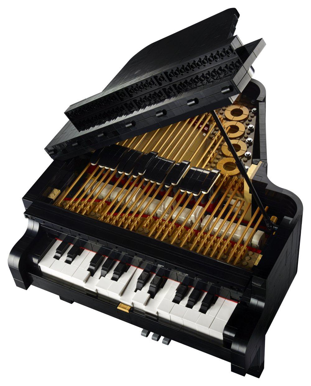 樂高「演奏鋼琴」盒組由素人樂高迷投稿設計,精緻呈現鋼琴細節。 LEGO /提供